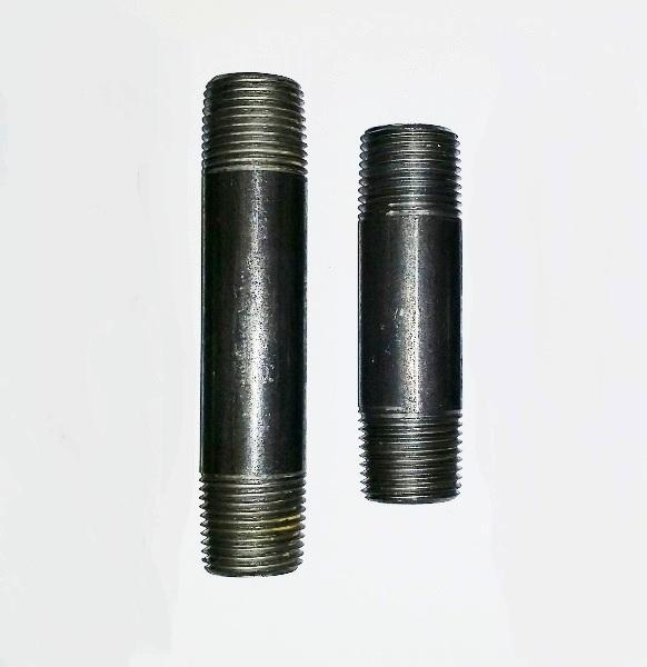 Image of BLACK NIPPLE STEEL 1''